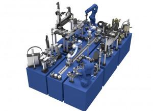 Industrie 4.0: Anhand einer Montagezelle präsentierte SCHUNK auf der HANNOVER MESSE, wie die Smart Factory mithilfe von SCHUNK Komponenten gelingen kann.