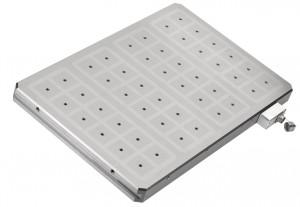 Mit einer Bauhöhe von nur 43 mm extrem dünn: Neue Vollmetall-Magnetspannplatten von AMF.