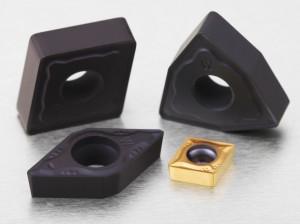Die neuen Wendeschneidplatten mit Wiper-Geometrien W-NM und W-FM.