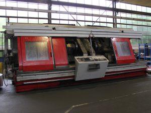 Als die ursprüngliche Maschine bei WMS in Sinsheim eintraf, war ihr die Notwendigkeit zur Überholung deutlich anzusehen.